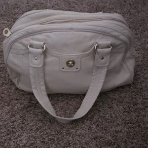 Marc by Marc Jacobs off white leather sachtel bag